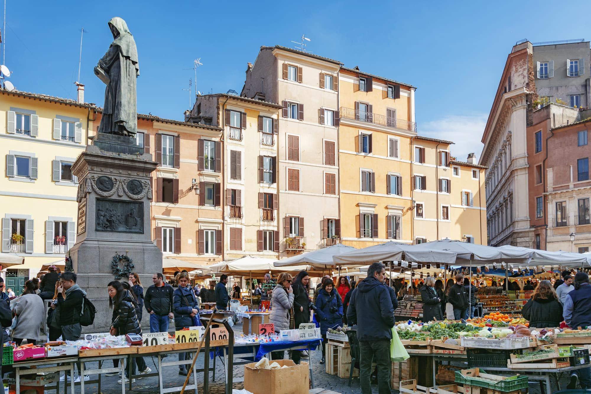 Roma Campo De Fiori Street Market