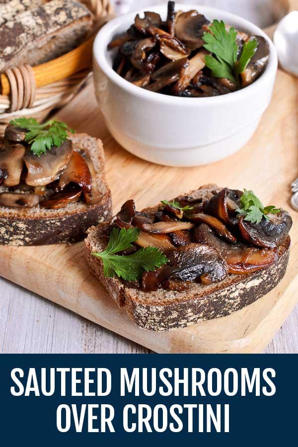 Sauteed Mushrooms with Homemade Potato Chips [Funghi Trifolati]