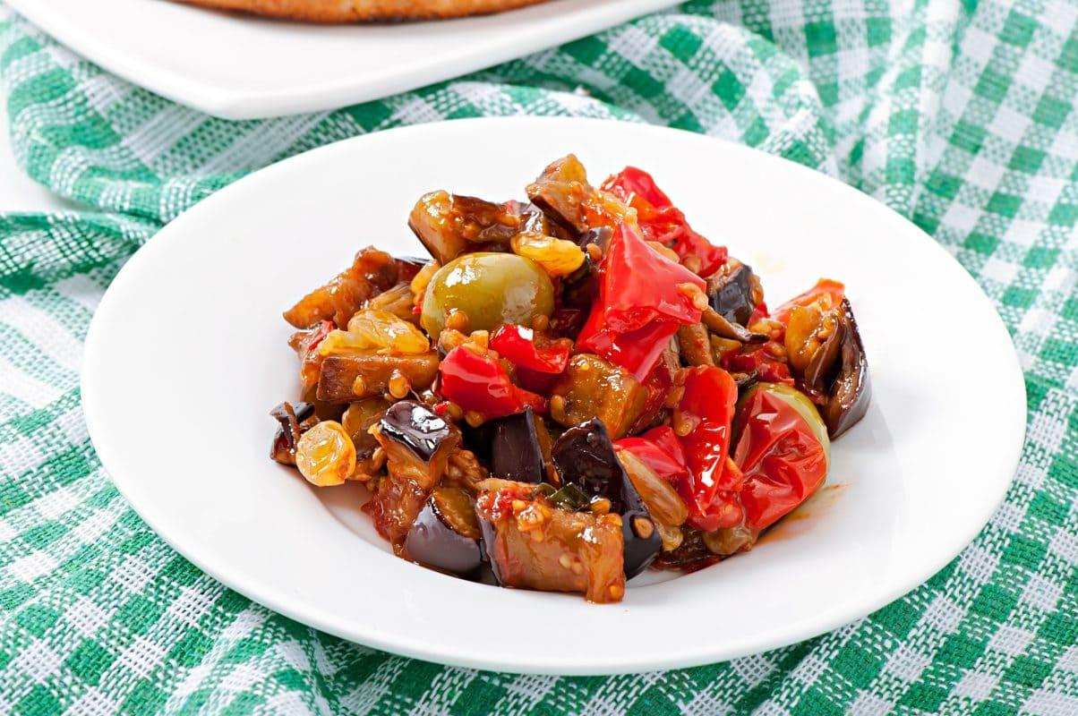 Sicilian Caponata Eggplant Appetizer