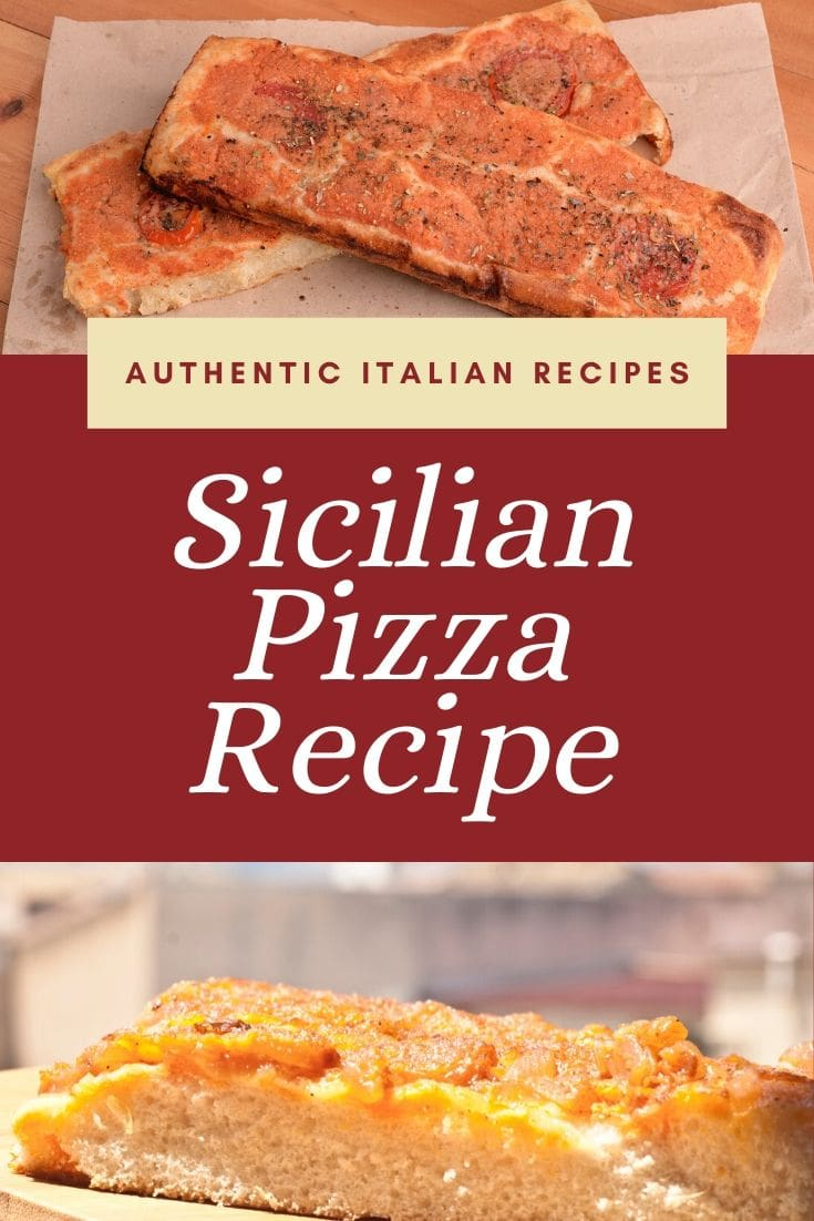 Stick with tradition and enjoy this Sicilian pizza at your next New Years\' Eve celebration or any day you are craving something truly Italian! #Sfincione #Pizza #Recipe