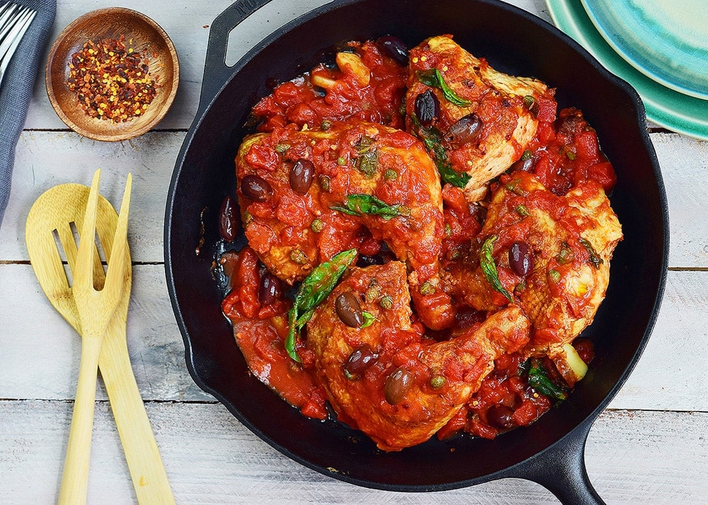 Skillet Chicken Puttanesca Recipe
