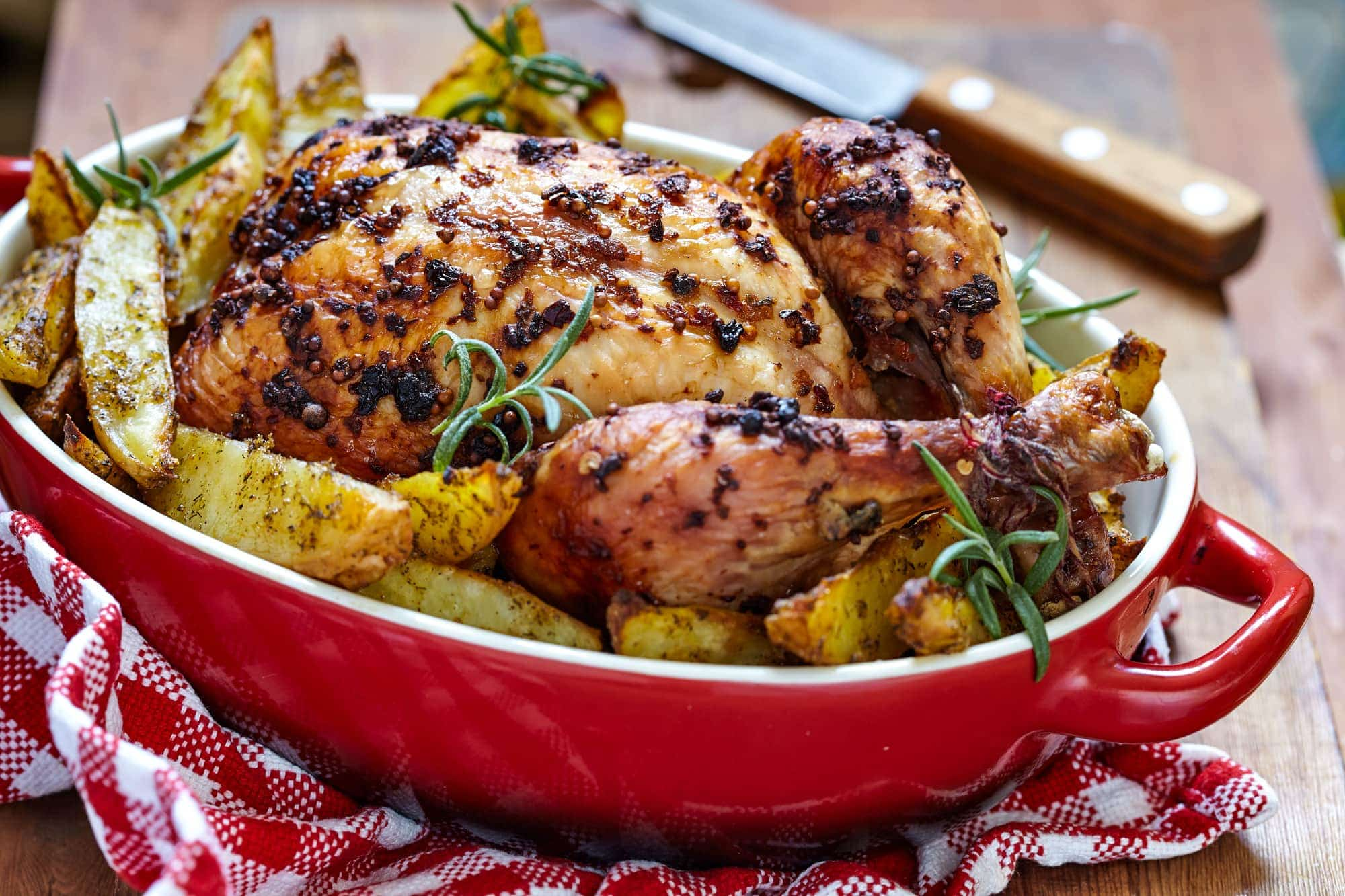 Tuscan Roasted Chicken with Potatoes