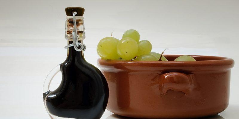 Balsamic Vinegar and grapes