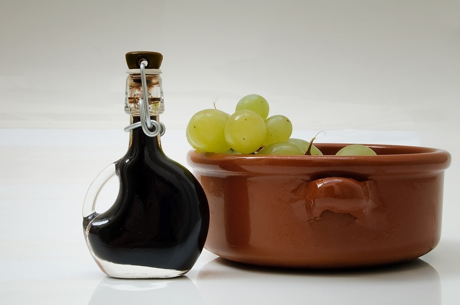 Balsamic Vinegar and grapes