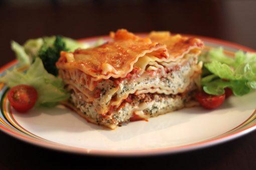 Lasagna is among the Italian Main Dishes.