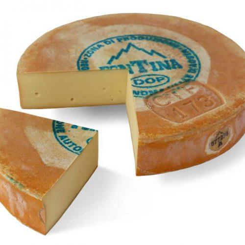fontina cheese close up