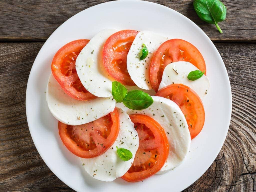 Traditional Caprese Salad Recipe With Buffalo Mozzarella
