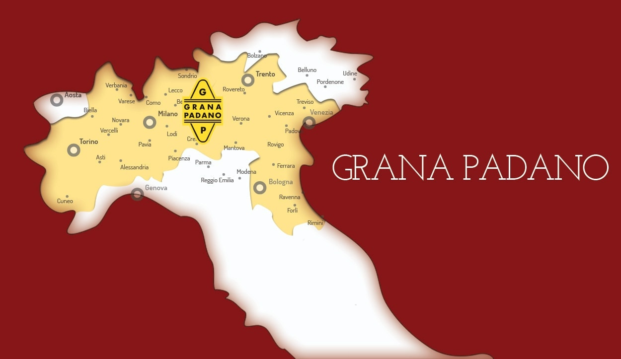 Grand Padano production map