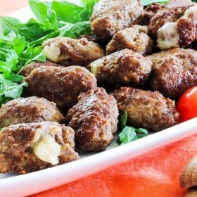 mozzarella stuffed meatballs recipe