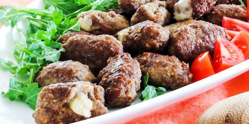 mozzarella stuffed meatballs recipe