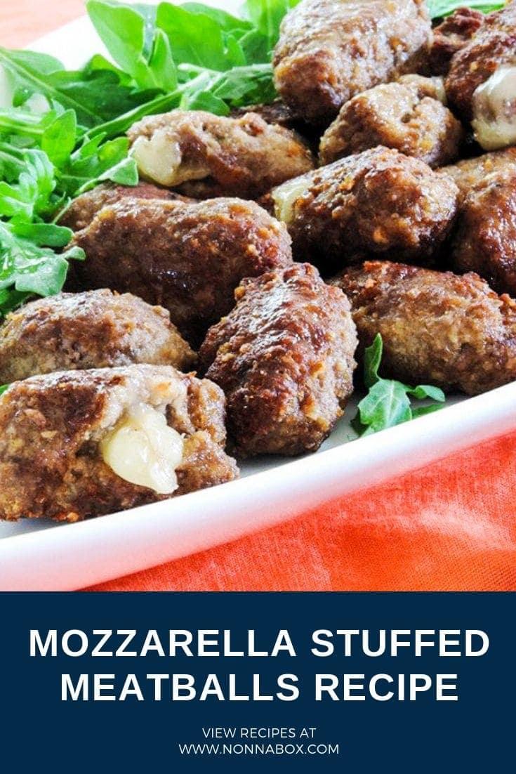 Delicious Mozzarella Stuffed Meatballs Recipe