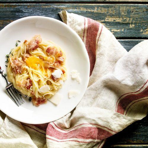 Ingredients for Pasta carbonara recipe