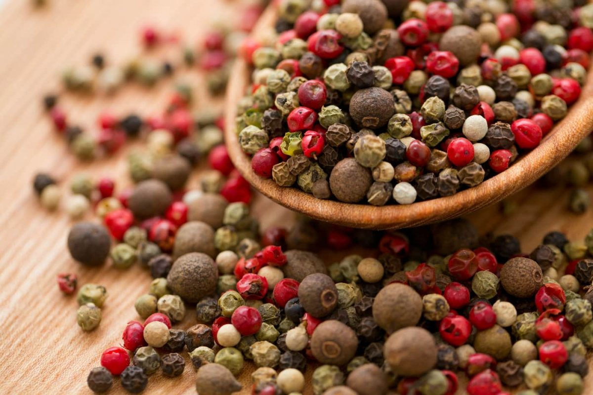 Types of peppercorn