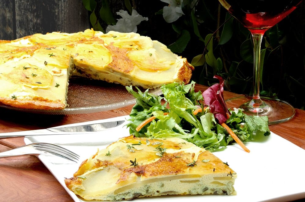 Onion Potato Frittata Recipe