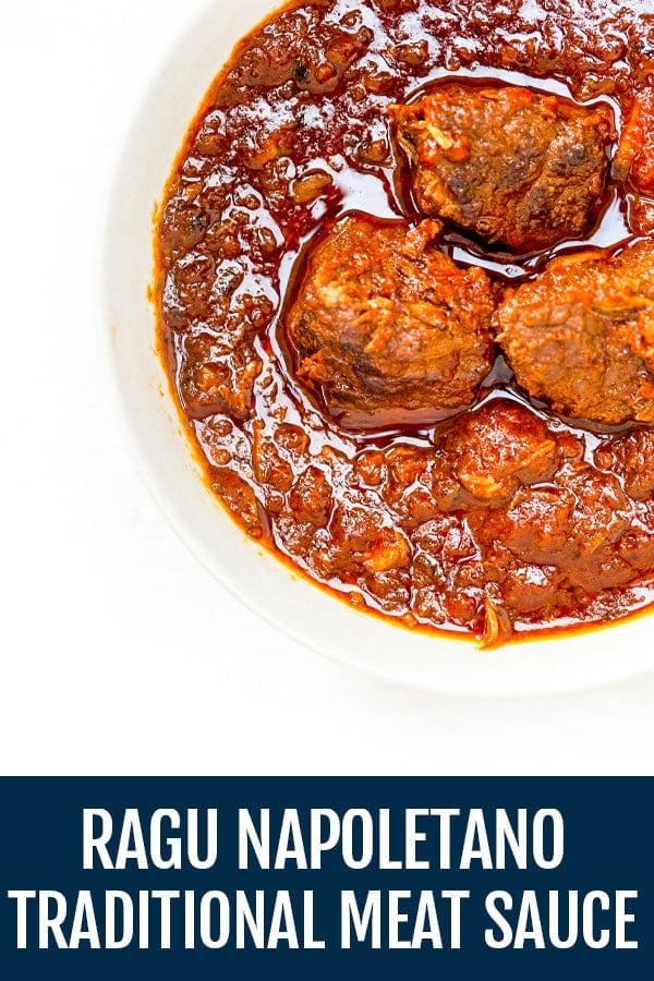 Ragù Napoletano | Neapolitan-Style Italian Meat Sauce with Paccheri Pasta