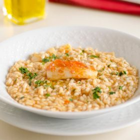 Tomato risotto with halibut fillet: Best Recipe For Fish Lovers