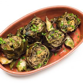 stuffed artichokes with breadcrumnbs and meat recipe